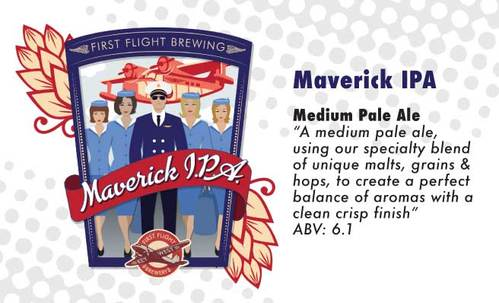maverick IPA medium pale ale beer, original brew at first flight southernmost brewery