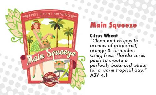 main squeeze citrus wheat beer,  original brew at first flight southernmost brewery
