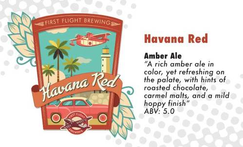 havana red amber ale beer, original brew at first flight southernmost brewery