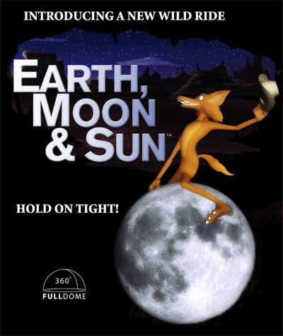earth moon and sun poster