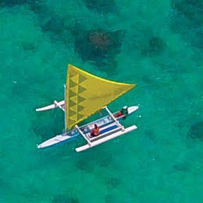 canoe on ocean