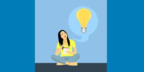woman with an idea