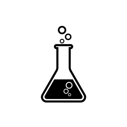 A beaker with bubbling fluid icon