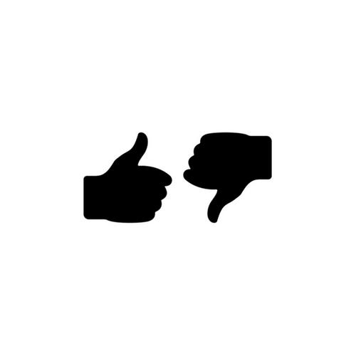 thumb up thumbs down icon
