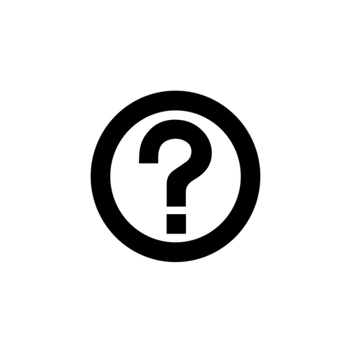 question mark in circle icon