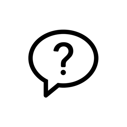 Speech bubble with question mark