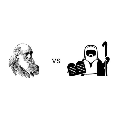 Darwin vs. Moses icon