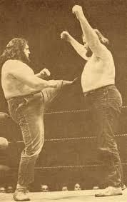 Luke and Tiny in the ring