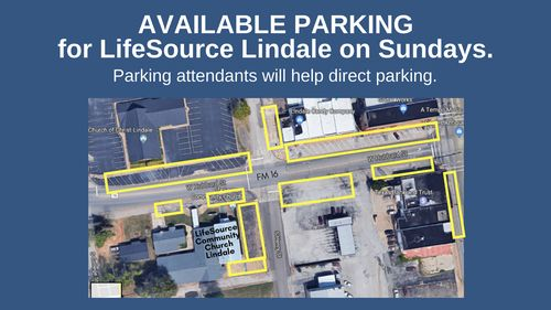 LifeSource Lindale parking