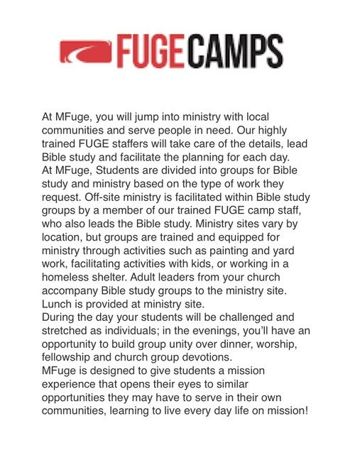 About Fuge Camps