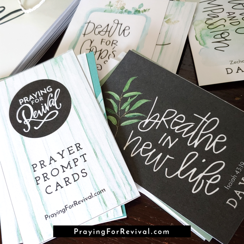 Praying For Revival Prayer Prompt Cards