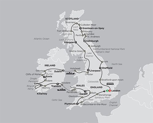20 Day England, Wales, Ireland and Scotland Tour