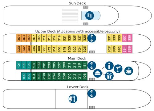 Duoro Discoverer Deck Plan