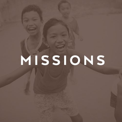 Missions picture with dark brown overlay