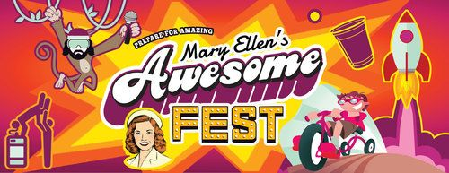 Banner image of Mary Ellen's Aweseome Fest event graphic