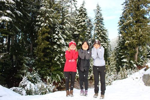 YWAM Vancouver DTS students at Cypress Mountain.