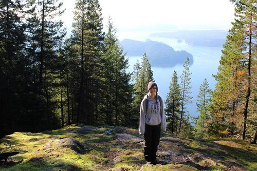 YWAM Vancouver Staff Isabella, On Hike in Vancouver.