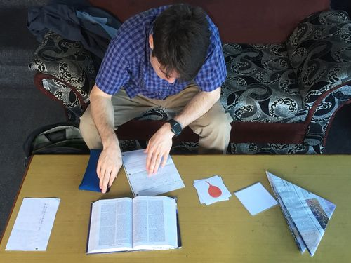 YWAM Vancouver Staff Studying Bible.