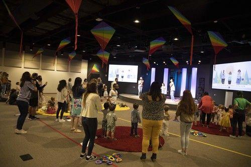 Preschool Kids Singing and Dancing in Service