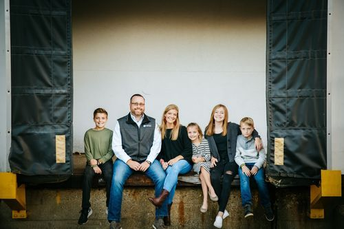 Pastor Adam Grill and family