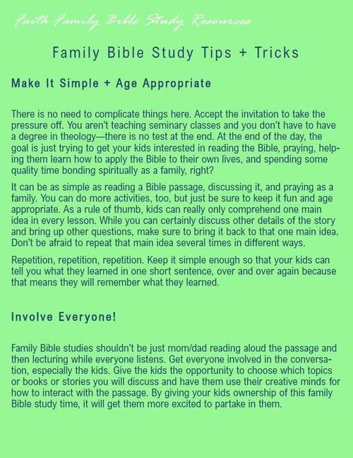 Bible Study tips and tricks