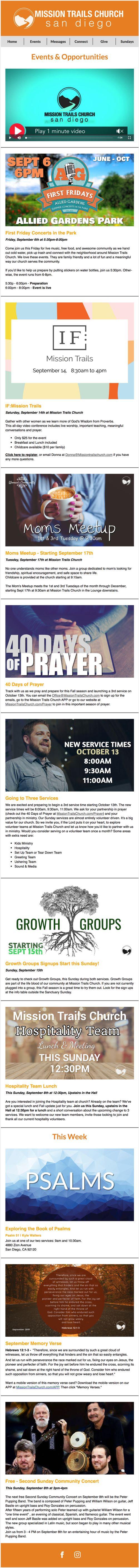 Mission Trails Church - Mission Trails Weekly