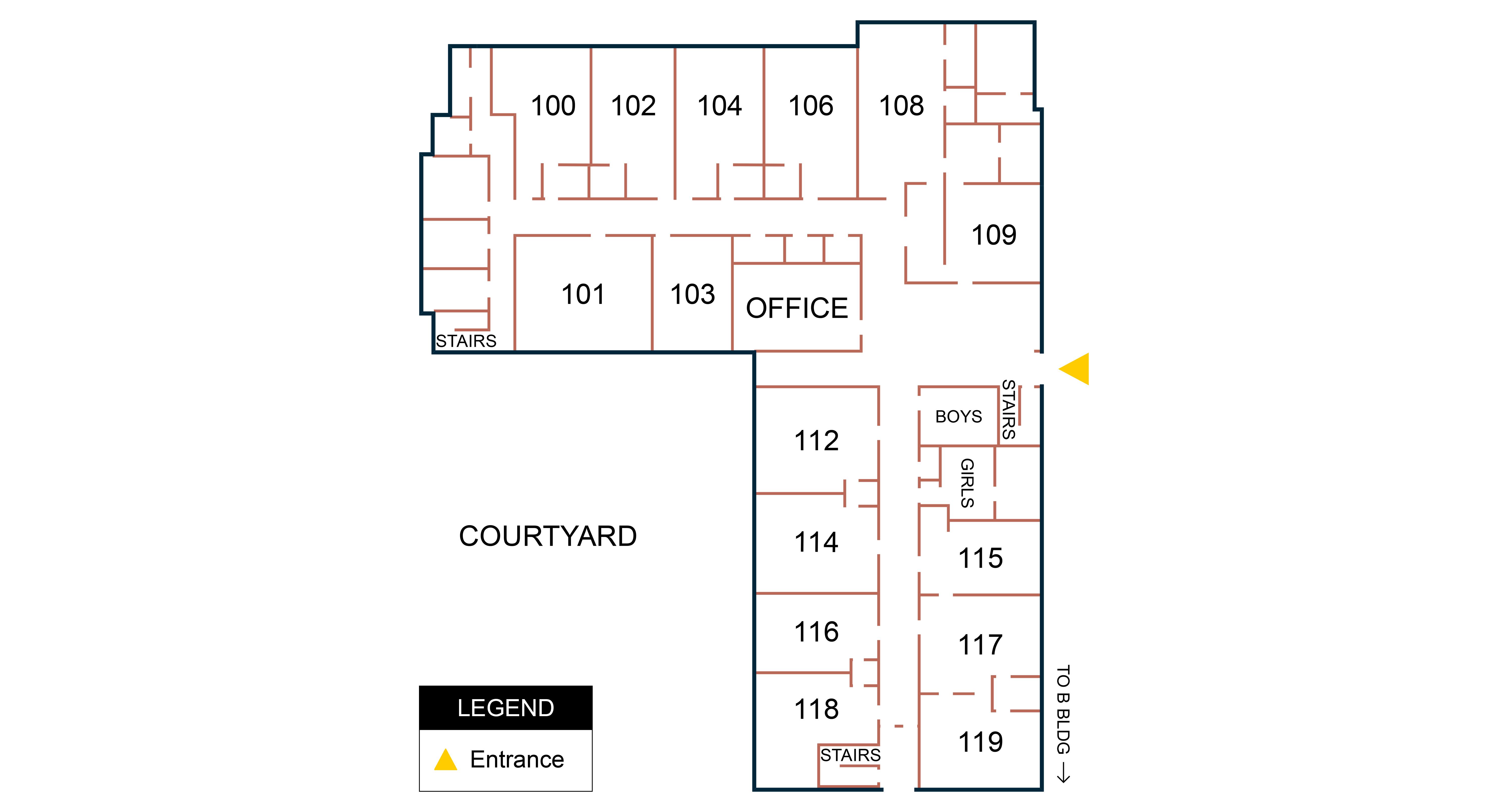Building A - 1st Floor Map
