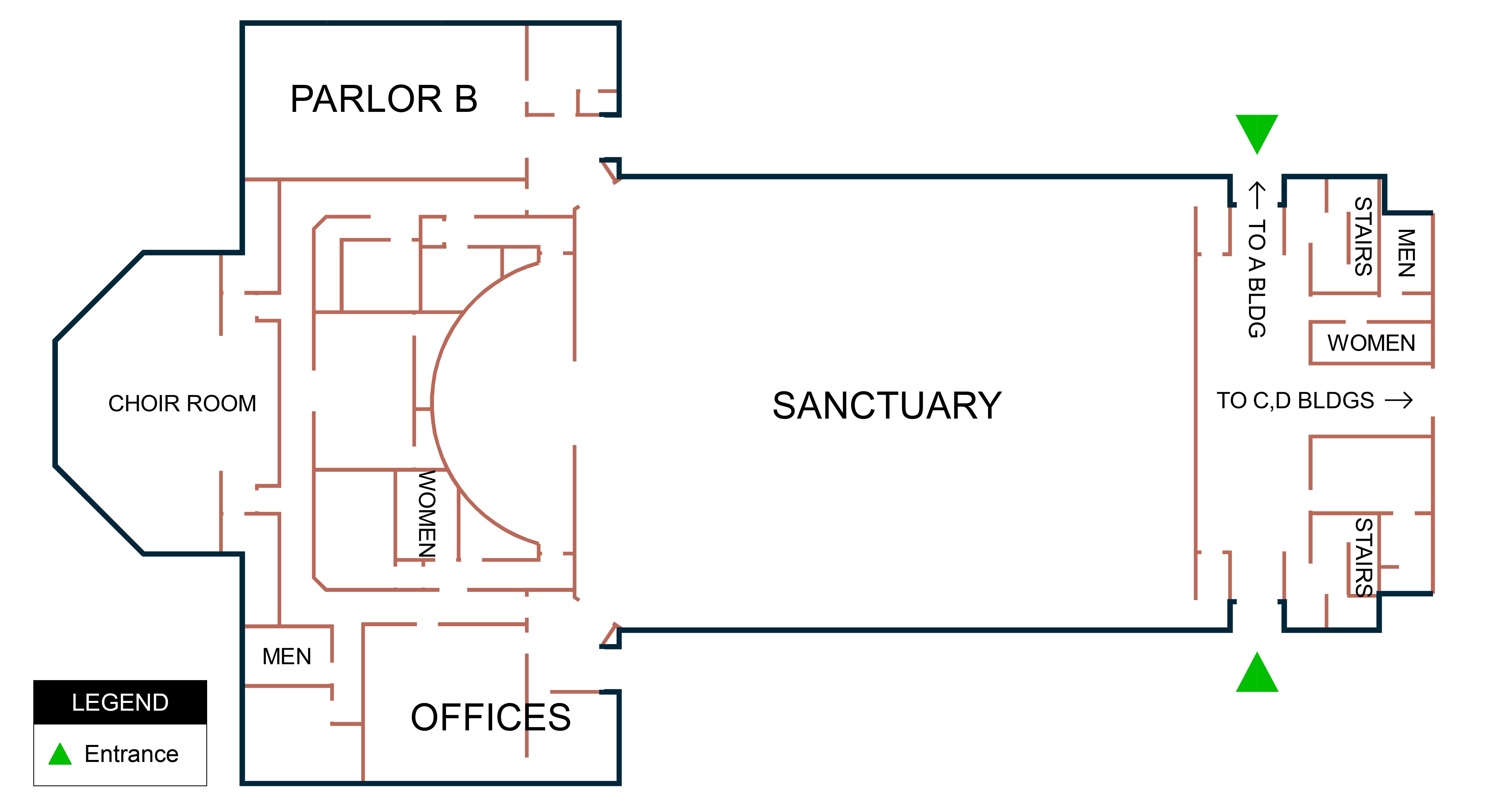 Building B - 1st Floor Map