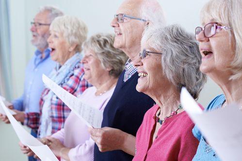 adult choir singing together