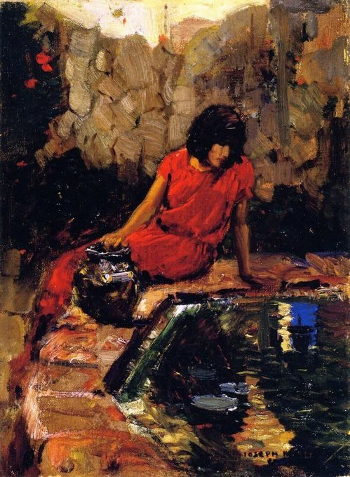 Woman at the Well by Joseph Kleitsch