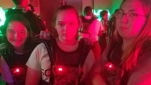 umcl youth at laser tag
