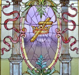 stained glass window UMCL