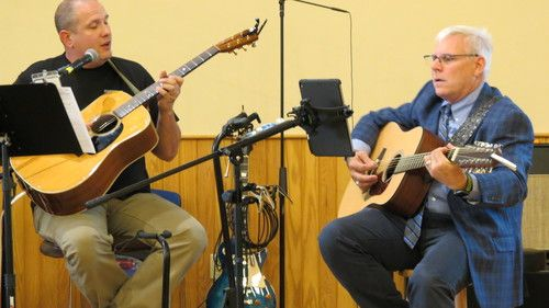 Pastor Hoyt Brown and Dan