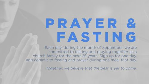 Click to sign up to fast and pray