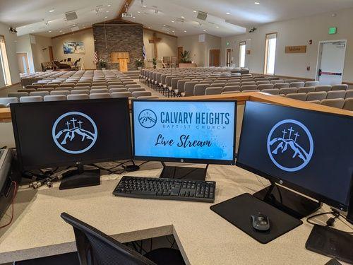 Calvary Heights A/V Ministry Leader Nick Mangiafesto