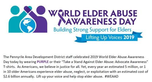 World Elder Abuse Awareness Day 2019 Logo