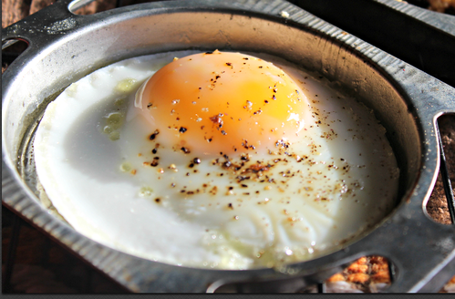 Egg cooked in an Easy Bake Oven