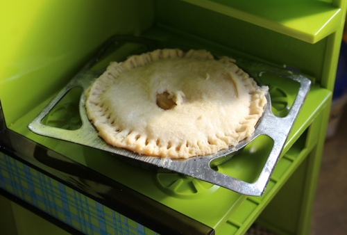 Apple Pie made in an Easy Bake Oven
