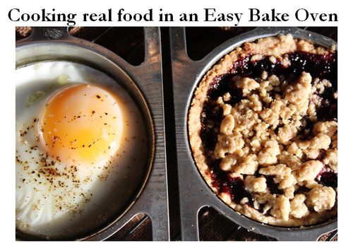 Cooking real food in an Easy Bake Oven