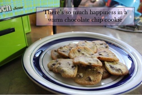 Chocolate chip cookies made in an Easy Bake Oven