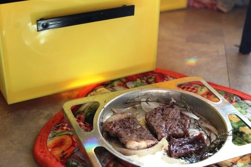 Sirloin Steak cooked in an Easy Bake oven