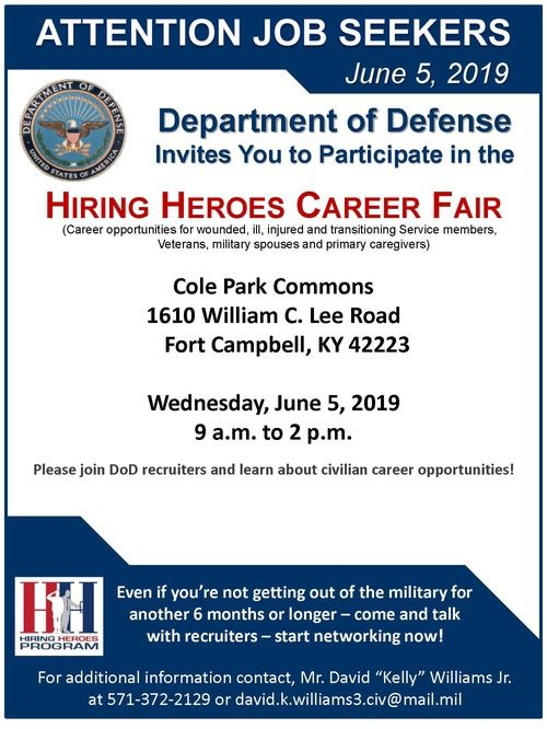 Hiring Heroes Career Fair Flyer