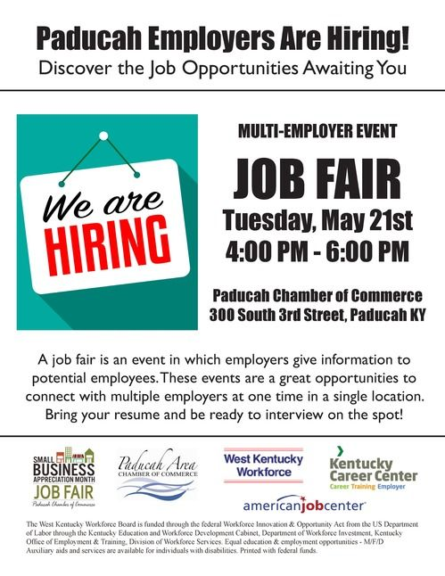 2019 Paducah Job Fair Flyer