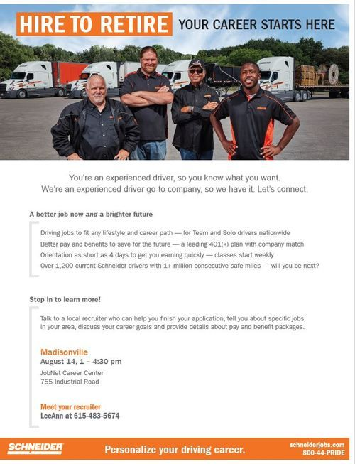 Schneider Job Fair Flyer