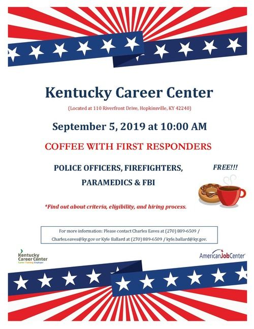 Coffee With First Responders Flyer
