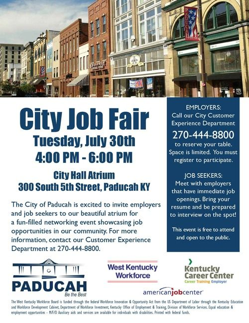 City Job Fair Flyer