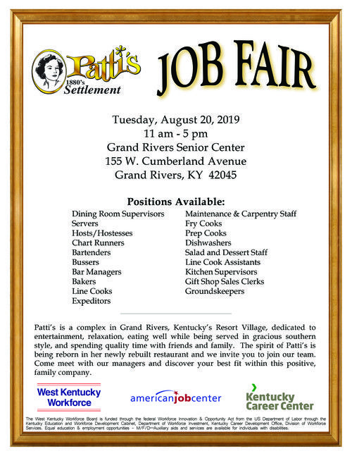 Patti's Job Fair Flyer