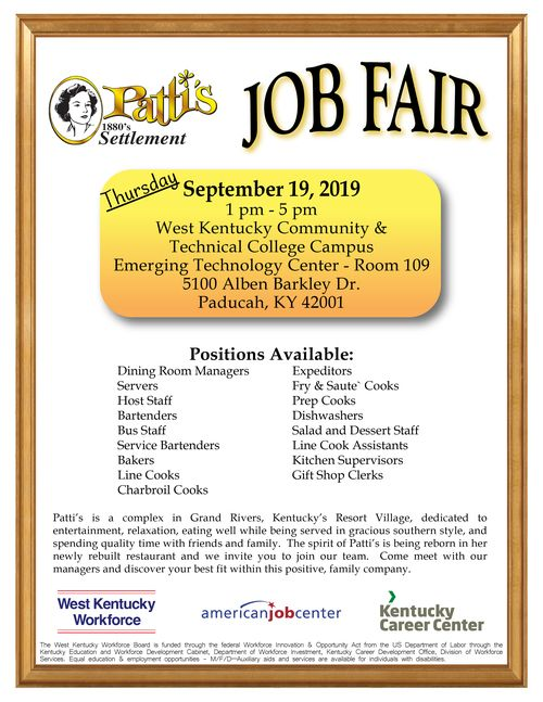 Patti S Job Fair September 19 2019 West Kentucky