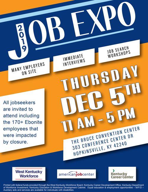 2019 Job Expo Flyer
