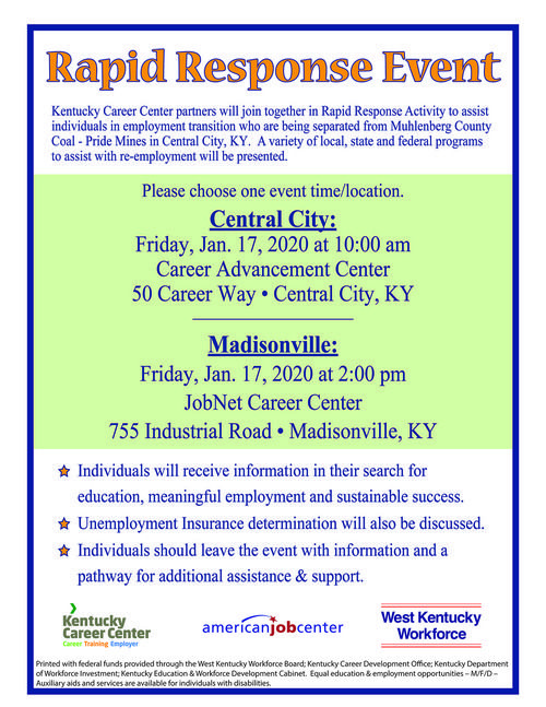 Muhlenberg Co Coal Rapid Response Flyer